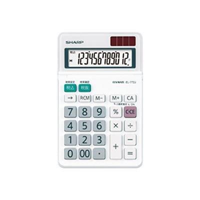 シャープ 電卓 ミニナイスサイズタイプ 12桁 EL-772-JX