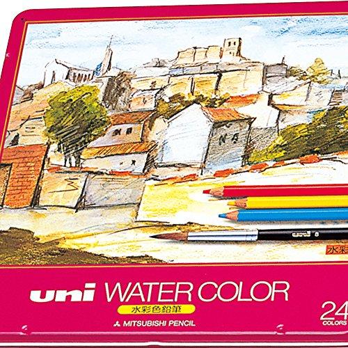 三菱鉛筆 色鉛筆 ユニウォーターカラー 24色 UWC24C(5セット) 三菱鉛筆 色鉛筆 ユニウォーターカラー  24色 UWC24C(5セット)