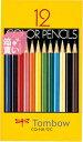 【箱買い商品 / 一箱120セット】トンボ 色鉛筆12色 CQ−NA12C (納期優先の為単品詰合せの場合が御座います)