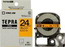 キングジム テープカートリッジ テプラPRO SC24D 24mm オレンジ/黒文字