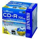 日立マクセル CD-R [700MB] CDR700S.WP.S1P20S 20枚