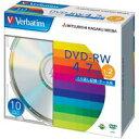 三菱化学メディア DVD−RW [4.7GB] DHW47N10V1 10枚