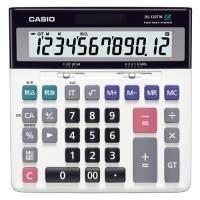カシオ計算機 特大表示電卓デスクタイプ DS-120TW 12桁(10セット)