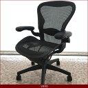 【中古】[数量限定] HermanMiller Aeron Chairs ハーマンミラー アーロンチェア ランバーサポート 固定肘 高機能オフィスチェア 高機能チェア メッシュ パソコンチェア PCチェア デスクチェア ワークチェア イス 椅子 オフィスチェア