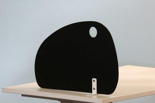 PB-H フェルトサイドスクリーン ラウンド型[ブラック][据え置きタイプ]【[W600×D140×H410mm]【お客様組立】各種デスク・テーブル向けの間仕切り,デスクトップパネル,パーティション,ブラインド,衝立,スクリーン