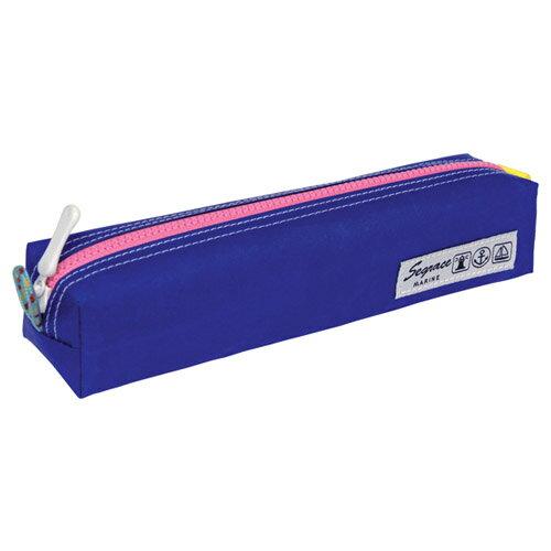 【セキセイ】 セグレス ペンケース スクエアL ブルー AZ-2307-10 【ケースバッグ】 【ケース】