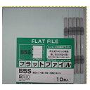 フラットファイルB5S 10冊パック青 【RCP】