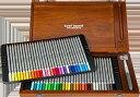 STAEDTLER(ステッドラー) カラト アクェレル 125 水彩色鉛筆 60色セット クリエイティブボックス 木箱入りセット。ウォータブラシと2穴の鉛筆削り...