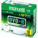 データ用DVD-R4.7GB1-16倍速 1枚×10(5ミリ) IJP対応日立マクセルEMC-DR47WPDS1P10SA