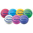 カラーソフトバレーボール 紫 MSN78-V【ミカサ】
