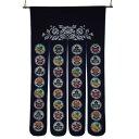 (代引き不可)(同梱不可)綿のれん 丸に蝶 M-832 紺 約巾85×丈150cm