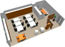 【送料無料】【smtb-TK】【スタンダード】SOHO家具パッケージ・80平米(9人用)フリーアドレスで席が自由に動かせます。【YDKG-t...