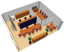 【送料無料】【smtb-TK】【店舗】SOHO家具パッケージ・60平米(5人用) ドア付パーテーションで個室を用意【YDKG-tk】【fsp...