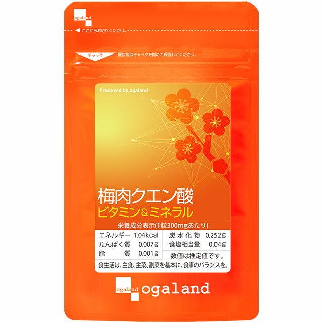 梅肉クエン酸(約6ヶ月分)送料無料クエン酸配合梅肉エキスアミノ酸サプリメントオーガランドサプリ梅エキ