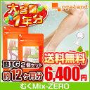 BIGむくMix-ZERO(2個セット・約1年分)◆1年分◆ 送料無料 午後のハリ感 毎日の水分ケア