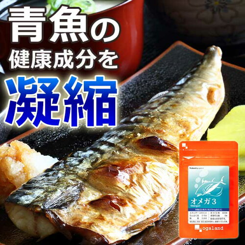 オメガ3 (約1年分) サプリメント DHA EPA α-リノレン酸 サプリ 送料無料 亜麻仁 ドコサヘキサエン酸 青魚 美容 健康 ダイエット オーガランド 【1年分】 _在管