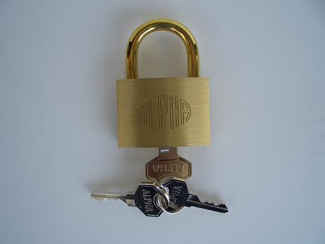 アルファ南京錠 (同一キー) 45ミリの商品画像