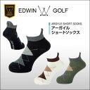 【ゴルフウェア ゴルフソックス ソックス 靴下 通販 男性】【ネコポス対応】 EDWIN GOLF(エドウィンゴルフ) アーガイルショートソックス