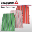 ルコックゴルフ(Le coq sportif) レトロストライプ柄 スカート(インナースパッツ付) レディース