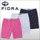 【60%OFF クリアランスセール】 【ゴルフウェア ハーフパンツ ショートパンツ 半ズボン 通販 男性】【60%OFF クリアランスセール】 フィドラ(FIDRA) 飛び柄プリント ショートパンツ メンズ