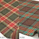ウール【18480】【柄物】【送料無料】【ウール生地】カラー全4色【50cm単位 切り売り】【ウールツイード】18480-200 ☆ジャケットやスカート ワンピース ストールなど小物にも