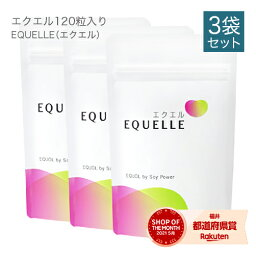<strong>エクエル</strong> <strong>パウチ</strong> <strong>120粒</strong>×3袋 大塚製薬 【即〜3営業日出荷】 エクオール 大豆イソフラボン サプリ <strong>3個セット</strong> EQUELLE【正規品】 【メール便】【<strong>送料無料</strong>】