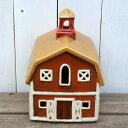 キャンドルハウス 29214 納屋 キャンドルホルダークリスマス 陶器 家