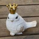 小鳥 オブジェ 置物 鳥 バード 木製 白 動物 ウッド