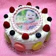 写真ケーキ バースデーケーキ お誕生日 パーティー 記念日 サプライズ (丸)5号 生クリーム