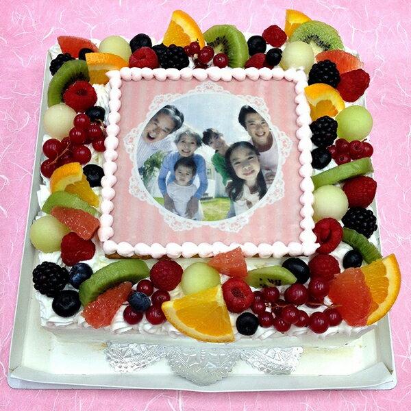 生クリームケーキ バースデーケーキ お誕生日 パーティー 記念日 サプライズ(四角)7号