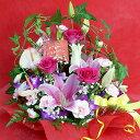 【母の日】人気ベスト3の花がたっぷり♪送料無料&嬉しいおまけ付き母の日イチオシ!香る♪百合