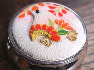 京都の古布のおとりよせ 押し絵つきピルケース