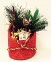 迎春置物 朱色 Sサイズ【お正月飾り/お正月置物】