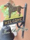 【送料無料】アイアンベル(Dog)/玄関 ガーデン 壁飾り オブジェ オーナメント 呼び鈴  ★  犬 Welcome