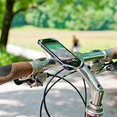 自転車用 スマホ ホルダー  FINN フィン【高品質 シリコン 自転車 スマートフォン ホルダー スマホホルダー 携帯ホルダー 固定 ケースの上、ロードバイク ママチャリ iphone、Xperia もOK!】