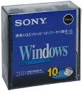 2HD フロッピーディスク DOS/V用 Windowsフォーマット 3.5インチ ブラック 10枚入り