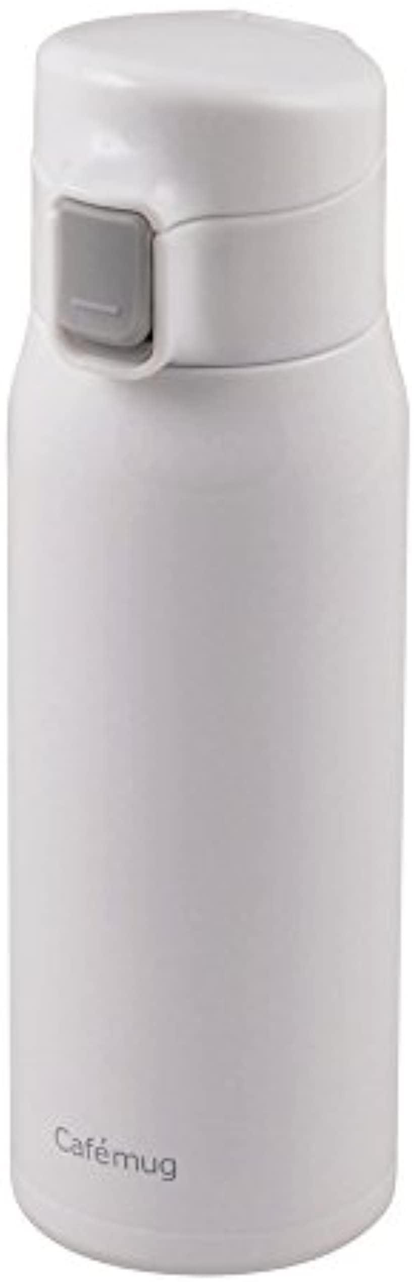 水筒 直飲み ステンレス 軽量 ワンタッチ マグ カフェマグライト HB-1934(ホワイト, 500ml)
