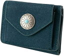 ショッピングコンパクト コンパクト ミニ 財布 コンチョボタン 小銭入れ お札入れ ウォレット カードポケット 小型 軽量 かわいい サイフ おしゃれ 大人 カジュアル シンプル レディース ガールズ 女性 R21 ダークブルー(R21 ダークブルー)