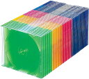 Blu-ray・DVD・CDケース スリムタイプ・50枚セット・5色ミックス FCD-PU50MXN(5色ミックス)