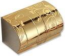 ショッピングトイレットペーパー ステンレス トイレットペーパーホルダー 柄入り 芯なしペーパー可 芯棒なし ゴールド ピンクゴールド(フラワー/ゴールド)