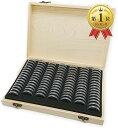 記念硬貨 コイン 収納 ケース 100枚 収納可能 木製 保管