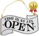OPEN CLOSED 看板 木製 開店 閉店 ウッド インテリア 店舗 営業中 サイン オープン クローズ プレート(白色)