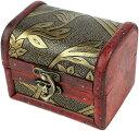 ショッピングメイクボックス ジュエリーボックス コスメ メイクボックス 小物入れ 化粧品 木製 アンティーク調 ケース 宝石箱 収納箱 アクセサリー インテリア ビンテージ J101 MDM(Dタイプ)