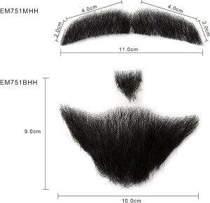 ネイティス 付け髭 ひげ 口髭 人毛ウィッグ 髪製髭 手