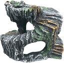 ワズチヨ亀隠れ家 爬虫類シェルター はちゅうるいしぇるたー 飼育 加湿生息地の装飾 乾燥プラットフォーム 岩 DB-018(岩 DB-018)