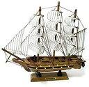 帆船 模型 手作り 完成品 海賊船 インテリア 装飾 に(.24cm)