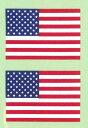 【メール便対応】東洋マーク 国旗ステッカー アメリカ ミニ 2枚入り 38×25(mm) 3410