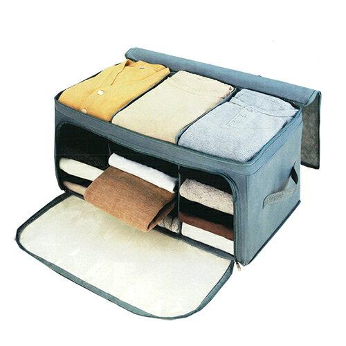 竹炭収納ケース 防臭消臭 透明窓 収納ボックス 布 フタ付き 折りたたみ 不織布 衣類 整理袋 収納