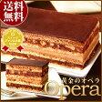送料無料スイーツギフト 楽天ランキング1位★黄金のオペラ 濃厚チョコレートケーキ【GIFT Op1】誕生日 お祝い 父の日●