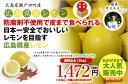 広島県瀬戸田産レモン(イエローレモン) 防腐剤不使用 良品1kg(約8玉〜10玉)